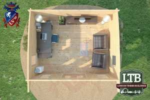 London Timber Buildings Log Cabin Wembley Range 5m x 4m WEM032 007