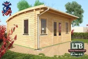 London Timber Buildings Log Cabin Wembley Range 5m x 4m WEM032 005