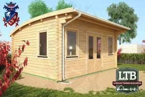 London Timber Buildings Log Cabin Wembley Range 5m x 4m WEM032 005