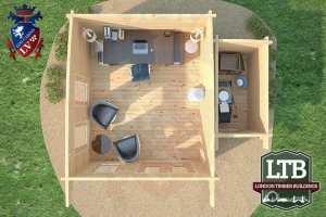 London Timber Buildings Log Cabin Wembley Range 5m x 4m WEM033 007