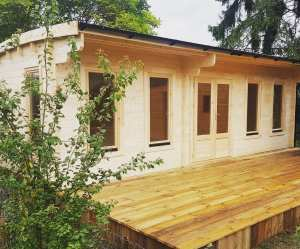 Bespoke Wembley Log Cabin, WEM044, 7.5m x 4m