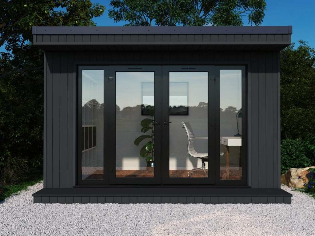 The Finsbury with composite cladding and black windows & doors