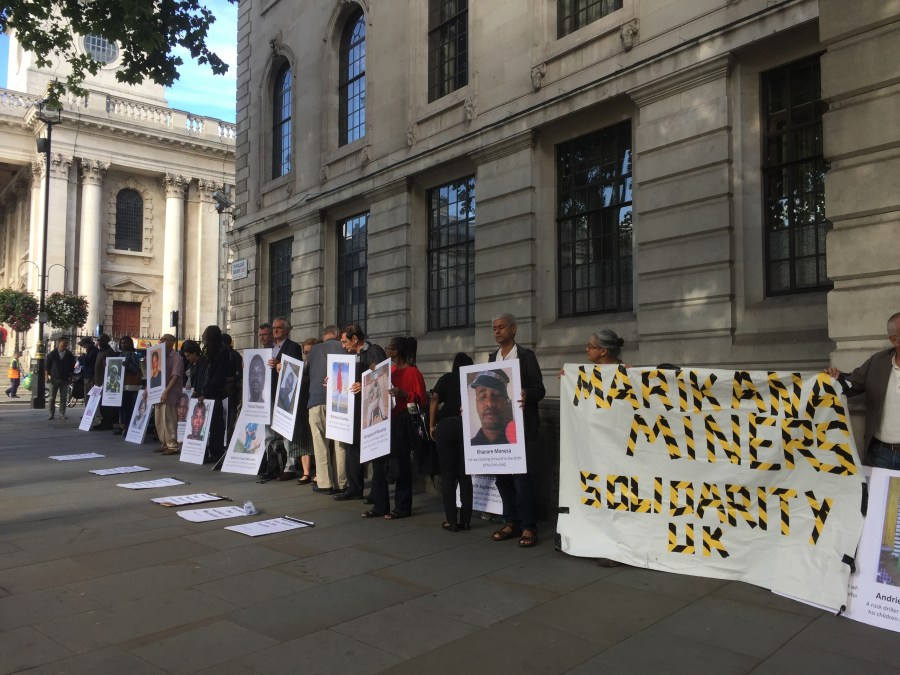 Marikana Miners Solidarity outside South Africa House