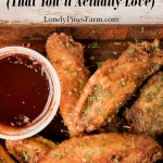 I swear, these are the best chicken wings ever! They're healthy because they're baked, instead of fried. But thanks to one secret ingredient, they still turn out super crispy and flavorful. This is our absolute favorite recipe for chicken wings.