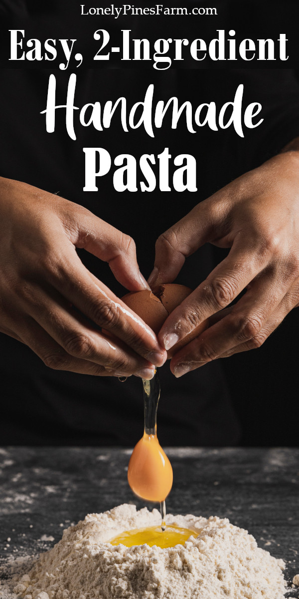 Homemade pasta might seem intimidating, but it doesn't have to be! Fresh pasta is incredibly easy to make with this 2-ingredient tagliatelle pasta recipe. It's simple enough to whip up for a quick weeknight dinner or you can store your pasta for later - either by freezing or drying your handmade noodles.