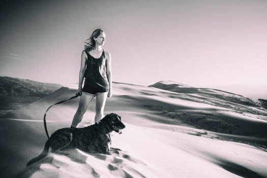 Diana and Tiger. Kelso Dunes, Mojave National Preserve. Maybe all this dust has something to do with the places I've taken the X-E1. X-E1, 18mm, f/2.0, 1/1500, ISO 200