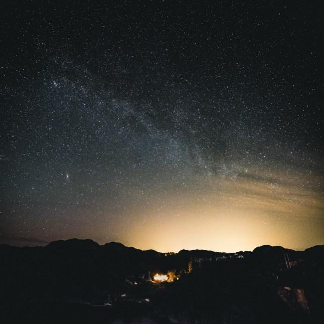 Brandasund House and Milky Way - Fujifilm X-T1 - 14mm