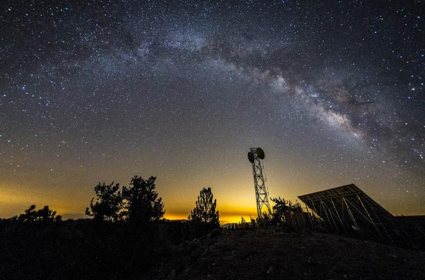 Milky Way over Mt. Pinos, Rokinon 8mm f/2.8 Fisheye, Defished