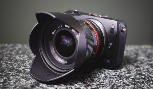 Rokinon 12mm f/2.0 NCS CS on Canon EOS M
