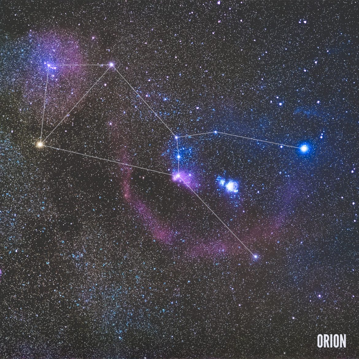 La constellation d'Orion