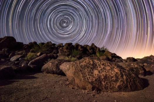 star-trails-petroglyphs