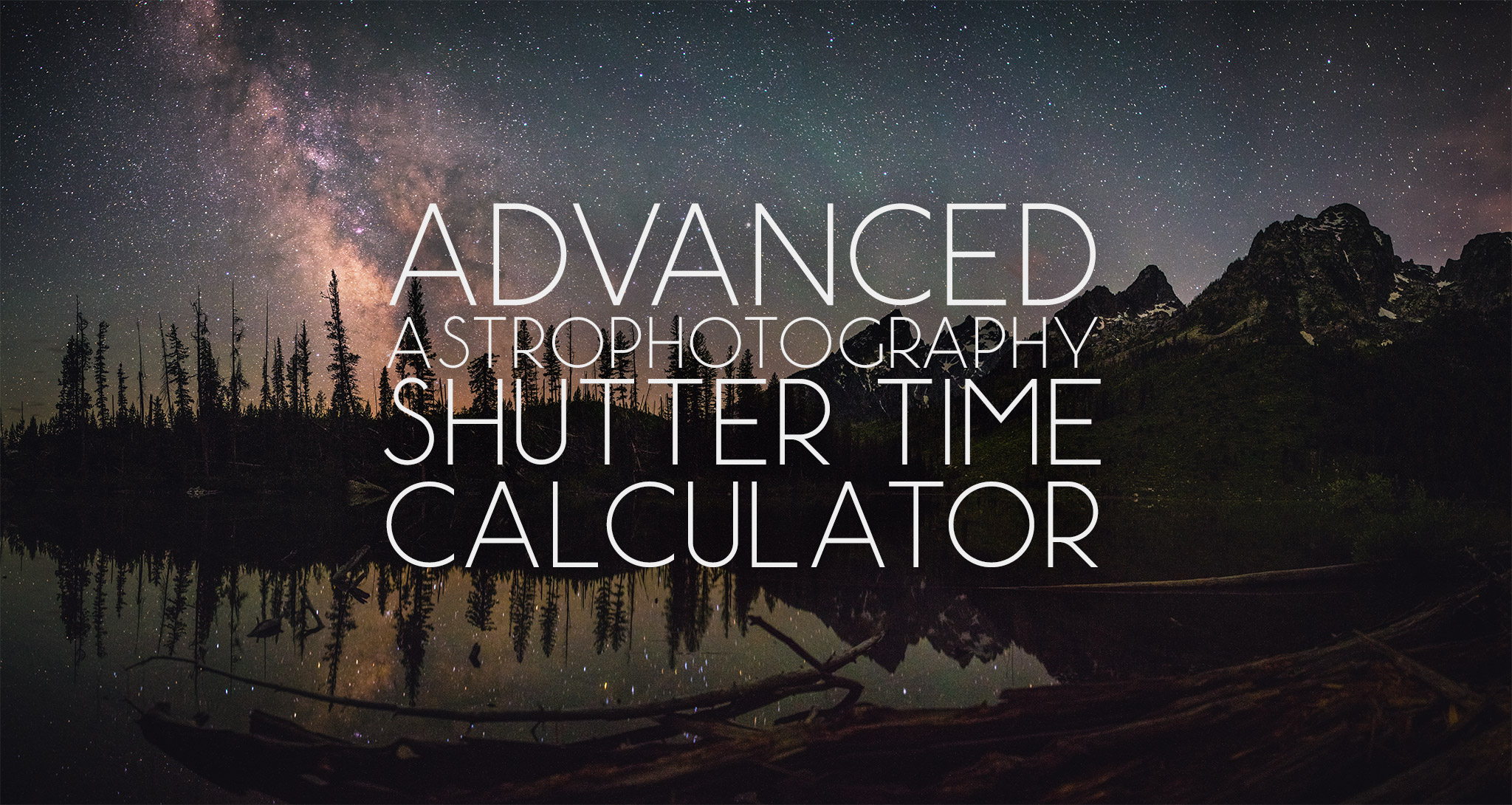 Advanced Astrophotography Shutter Time Calculator