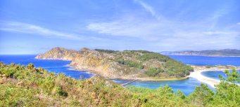 Panorama delle Islas Ciés, Galizia