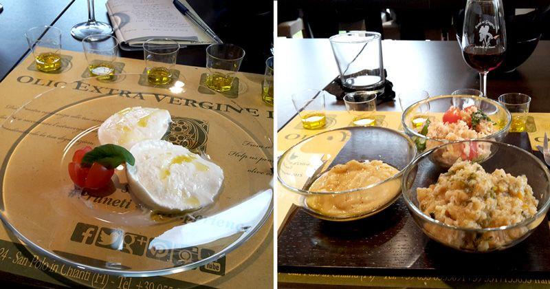Azienda Pruneti: abbinamento di olio extravergine d'oliva con piatti salati