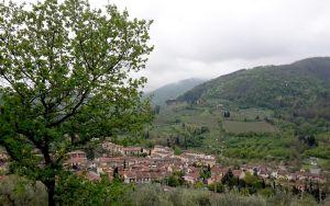 Il paesaggio attorno al paese di San Polo in Chianti