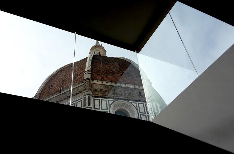 La cupola del Brunelleschi vista dal lucernario del Grande Museo del Duomo