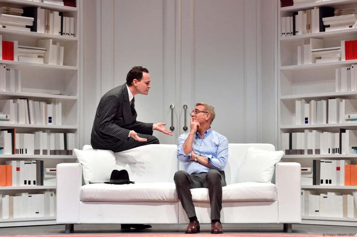 Massimo Ghini e Francesco Bonomo in una scena di Ciao (foto: Filippo-Manzini)