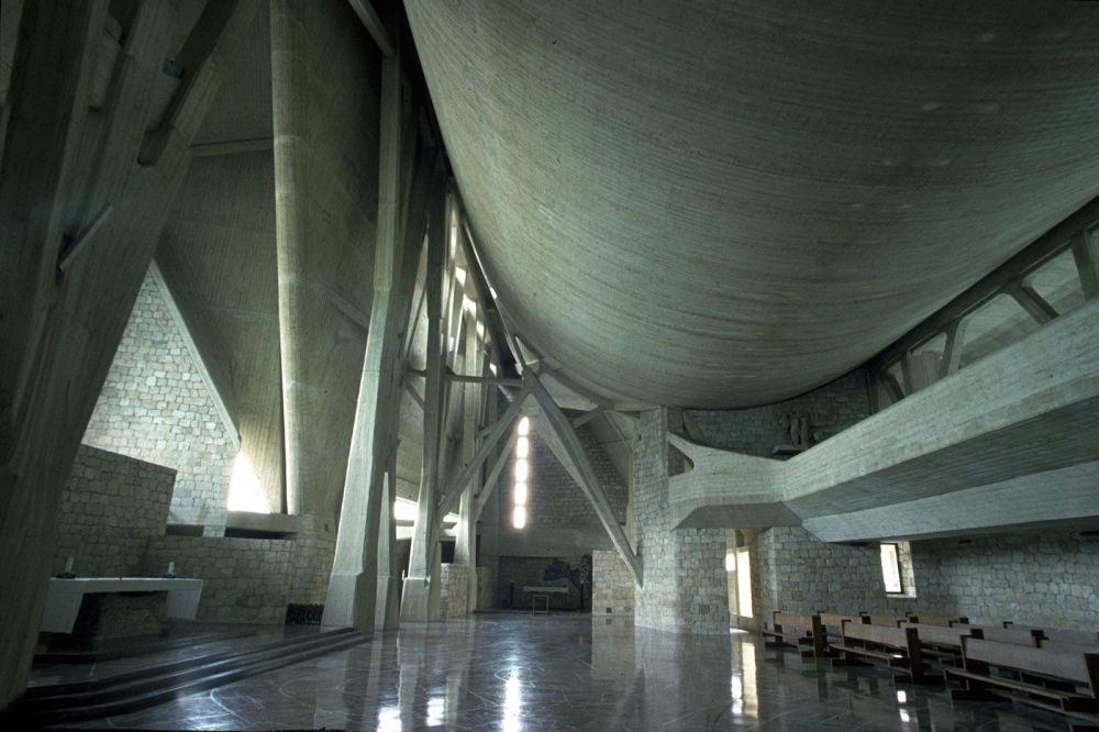 """Chiesa di San Giovanni Battista """"dell'Autostrada"""", Campi Bisenzio (Firenze) Archivio Giovanni Michelucci"""