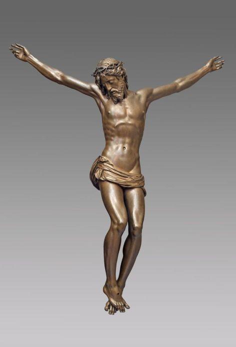 Giambologna, Crocifisso, 1598, bronzo, cm 171,5 (200 braccia comprese) x 169 x 55. Firenze, Basilica della Santissima Annunziata