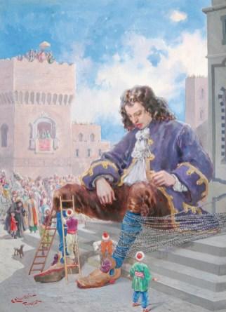 Carlo Chiostri, Gulliver, copertina 1921, acquerello, tempera su carta