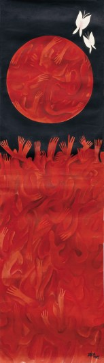 Zhang Dali, Human World, olio su carta tradizionale cinese