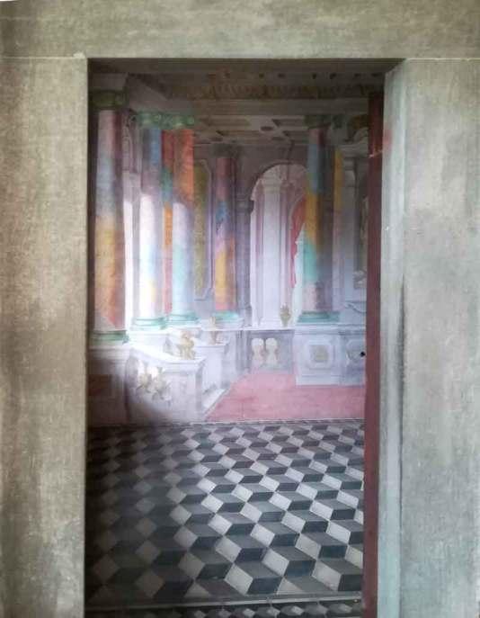 Certosa_Calci_trompeloeil_stanza_pavimento
