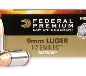 Federal 9mm 147gr Tactical HST HP – 50rd Box