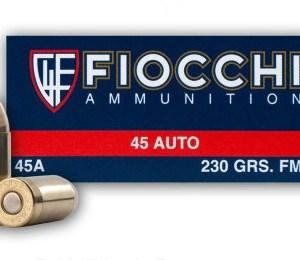 Fiocchi .45 ACP 230gr FMJ – 50rd Box