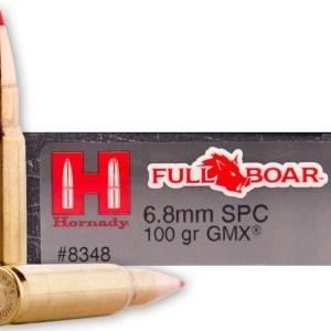 Hornady 6.8mm SPC 100GR GMX Full Boar – 20rd Box
