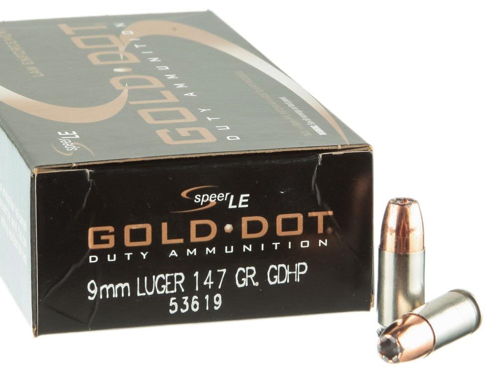 Speer Gold Dot Duty 9mm 147gr GDHP - 50rd Box