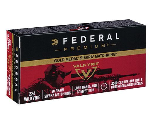Federal 224 Valkyrie 90gr Gold Medal Sierra MatchKing