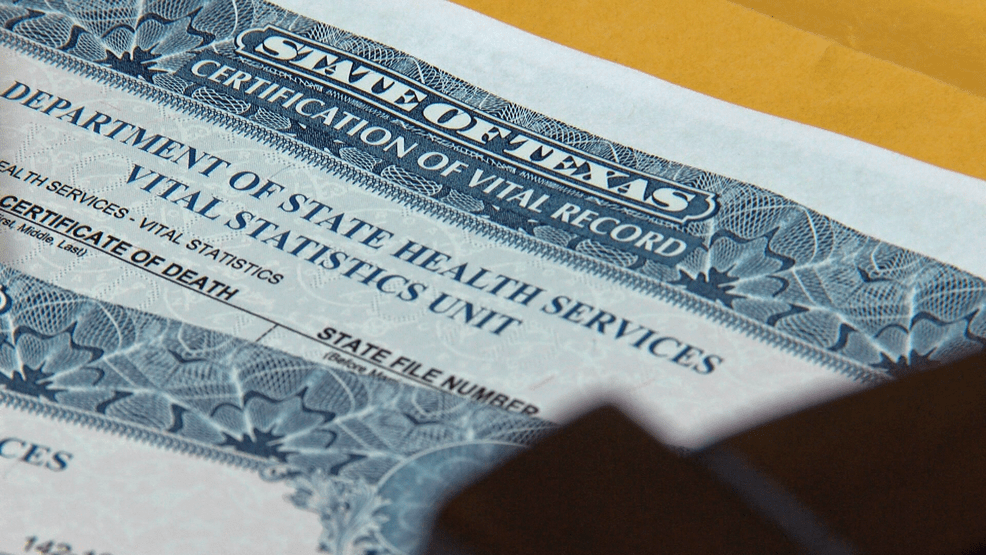 How Long Does It Take To Get Death Certificates In Texas