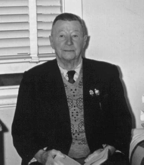 Otto Winter spent the last few years of his life at the TPI (a home for the Total and Permanently Disabled). This photo was taken there, about 1957 (age about 77)