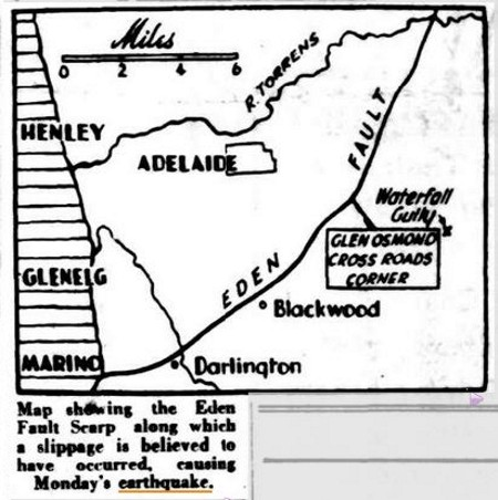 Earthquake Centre May Have Been Few Miles From City. (1954, March 3). The Advertiser (Adelaide, SA : 1931 - 1954), p. 1. Retrieved January 6, 2014, from http://nla.gov.au/nla.news-article47573779