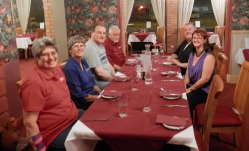 L-R: Rosemary Kopittke, Anthea Phillips, Chris Paton, Alan Phillips, Thomas MacEntee and Alona Tester
