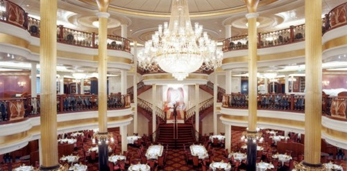 formal dining room on the Voyager of the Seas