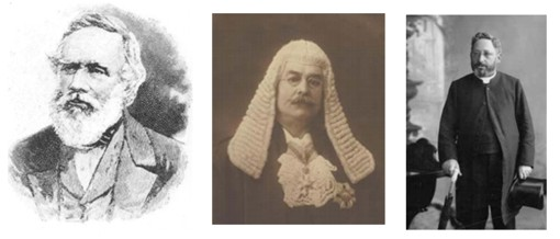 L-R: George Fife Angas, Richard Chaffey Baker, Abraham Robias Boas