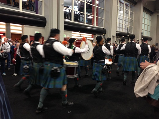 the Scottish Pipe Band