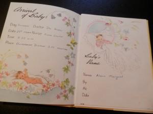Alona's baby book