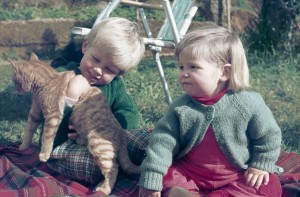 Stephen Phillips & Alona Phillips with Harold Cleggett (the cat)