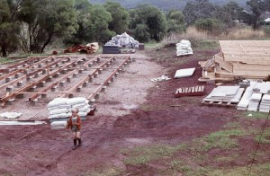 our house at Cudlee Creek, being built 1975-1976