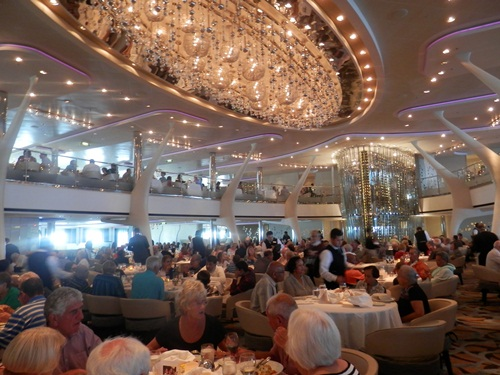 dinner in the Moonlight Sonata restaurant - note the two levels