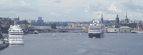 other ships in port at Stockholm