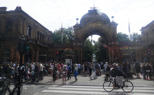 the Tivoli Gardens amusement park was swarming with people. Opened in  1843 it is the second oldest still-running amusement park in the world