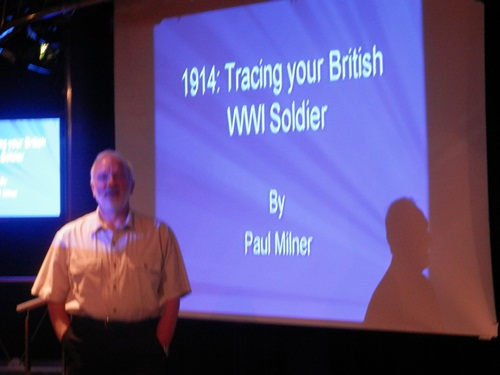 Paul Milner started the day with 1914: Tracing your British WW1 solider