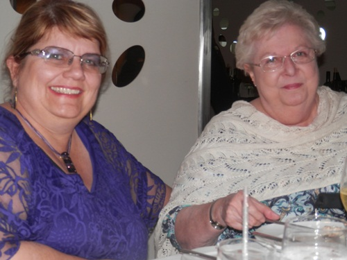 Helen Smith and Janice Ingle at the formal dinner