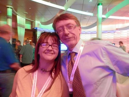 Alona Tester from Gould Genealogy with Tony Beardshaw from My History