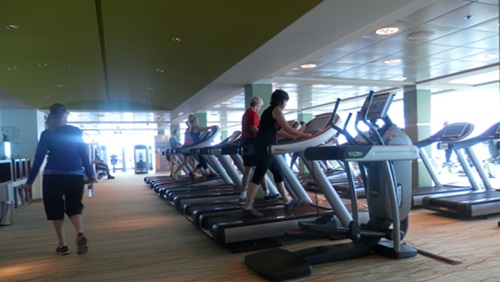 the onboard gym - I visited it once. To visit!