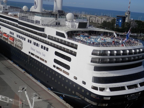 the Holland America Rotterdam also docked at Germany as well