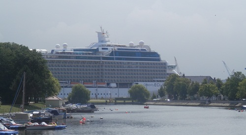 the Celebrity Eclipse from the town
